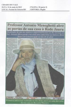 Prof. Antonio Meneghetti abre as portas de sua casa à Rede Jauru