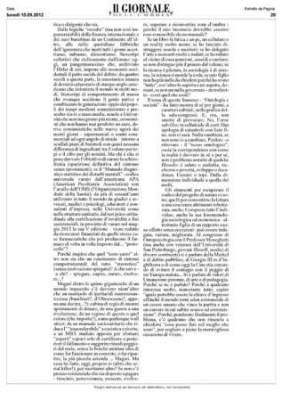 Ontologia e Sociedade. Economia, arte, pedadogia, na Summer University of Ontopsychology 2012