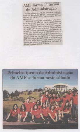 Os primeiros formandos da Antonio Meneghetti Faculdade