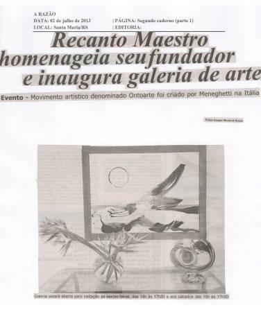 Recanto Maestro homenageia seu fundador e inaugura galeria de arte