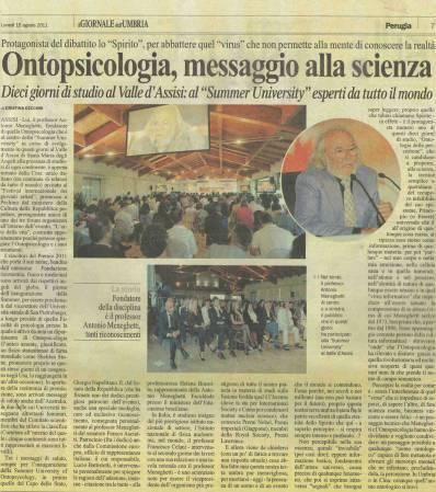 Ontopsicologia, mensagem à ciência