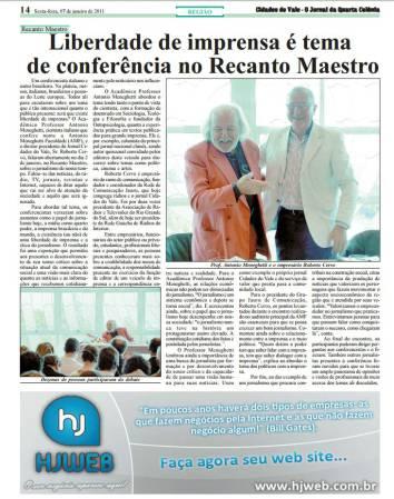Liberdade de imprensa é tema de conferência no Recanto Maestro