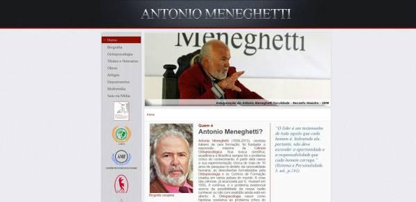Novo site de Antonio Meneghetti no Brasil