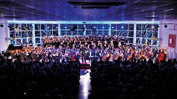Apresentação sinfônica, realizada no Recanto Maestro