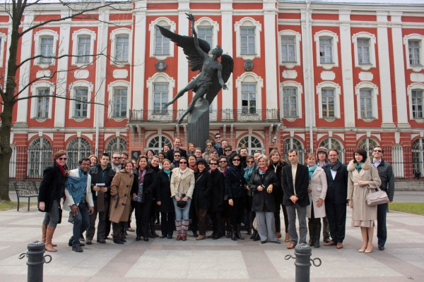 Estudantes brasileiros na Academia Russa