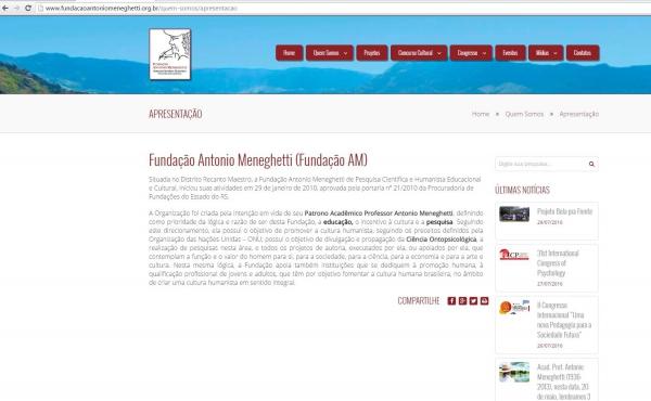 Fundação Antonio Meneghetti lança seu novo website