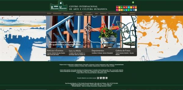 Recanto Maestro lança seu novo website