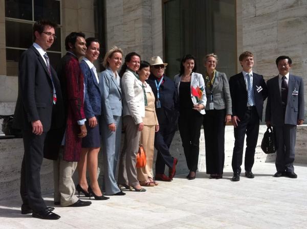 A nova geração jovem dos BRICs em um evento no Palácio das Nações em Genebra