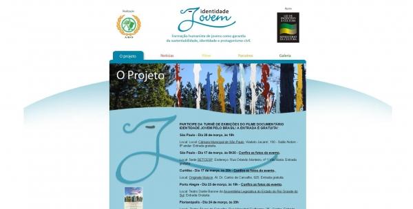 Identidade Jovem lança hotsite com informações e imagens do projeto cultural