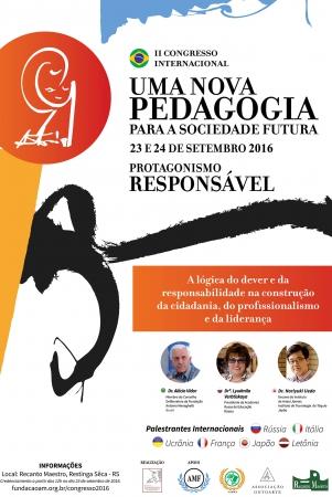 Matéria Sobre o II Congresso Internacional Uma Nova Pedagogia Para a Sociedade Futura: Protagonismo Responsável